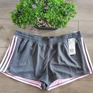 🆕️ADDIDAS Grey & Pink Mesh Shorts
